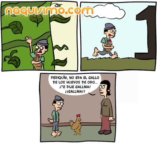 Chiste la gallina de los huevos de oro