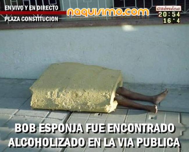 Bob esponja borracho